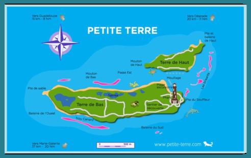guadeloupe, petite terre, carte, plage archipel