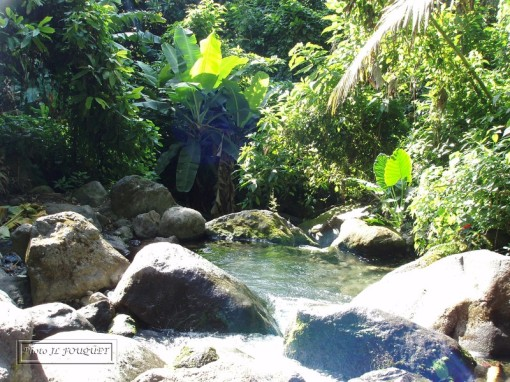 guadeloupe, bain des amours, dole, bassin, volcan, riviere, cascade