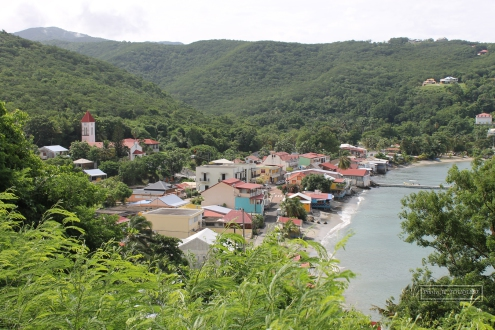 guadeloupe, basse terre, deshaies, bay, north, harbour, town
