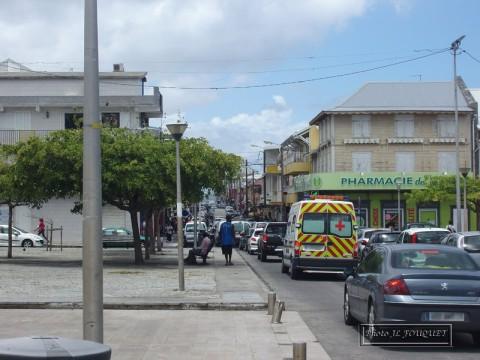 le moule, guadeloupe, place, rue principale