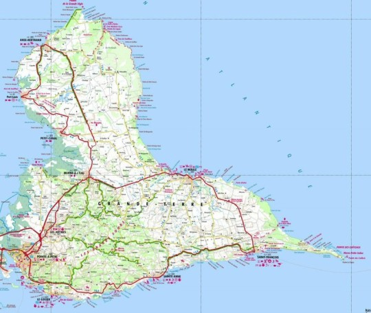 Grande Terre guadeloupe map