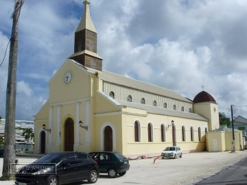 port louis, eglise, ville
