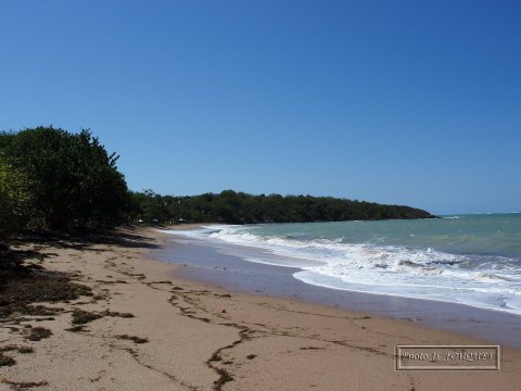 guadeloupe, beach, les amandiers
