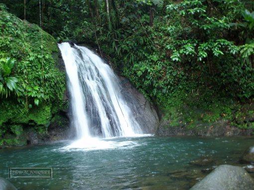 cascade ecrevisses, guadeloupe, petit bourg, basse terre, traversee