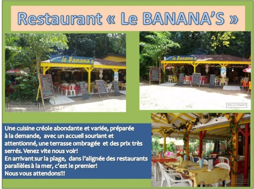 banana's, grande anse, guadeloupe, restaurant