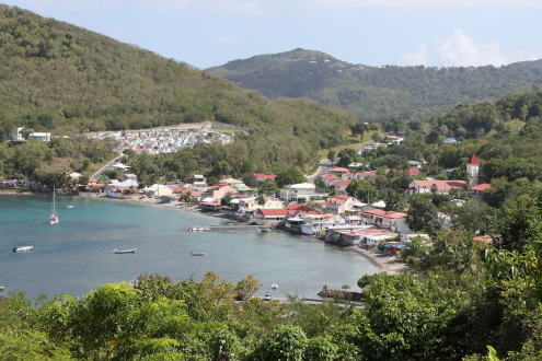 guadeloupe, basse terre, deshaies, bay, south, harbour, town