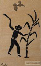 guadeloupe, tableau, sable, reve de sable, pointe noire, artisan