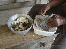 petit bourg, kassav, guadeloupe, coconut, cassava