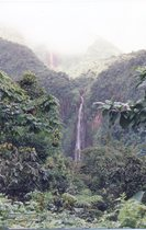 guadeloupe, soufrière, carbet, chute, volcan